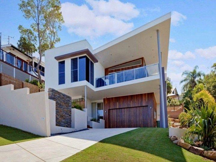 Fachada de casa contemporanea de dos pisos fachadas casa for Fachadas de casas de dos pisos