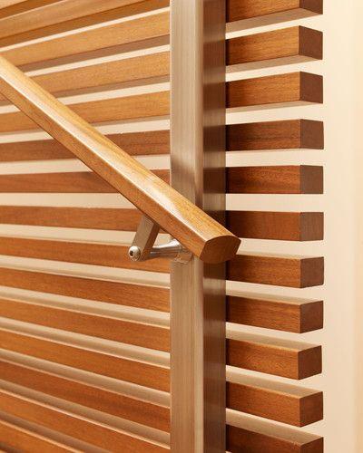 Best Handrail Detail On Wood Slat Staircase Wall Wood 400 x 300