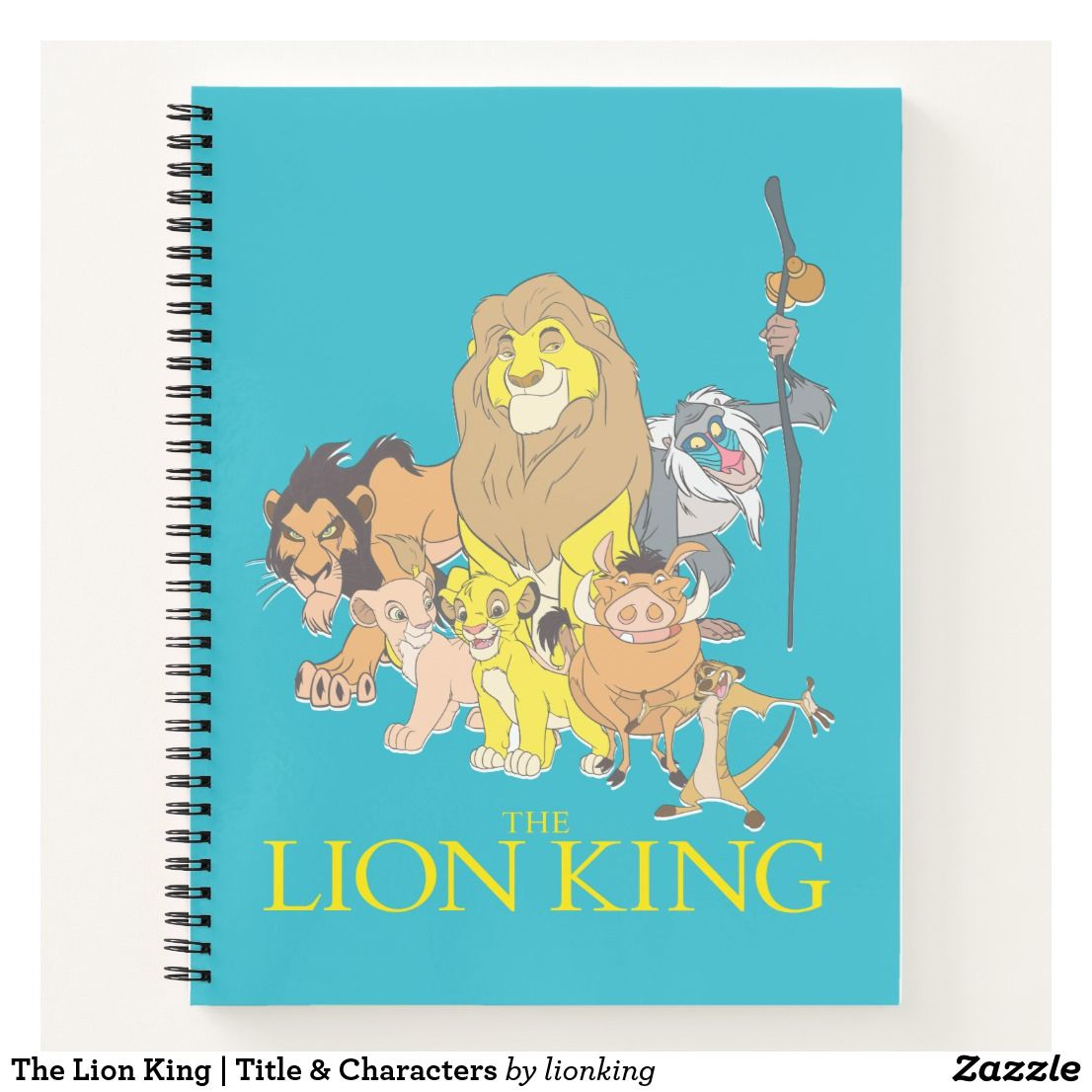 The Lion King Title Characters Notebook Zazzlecom