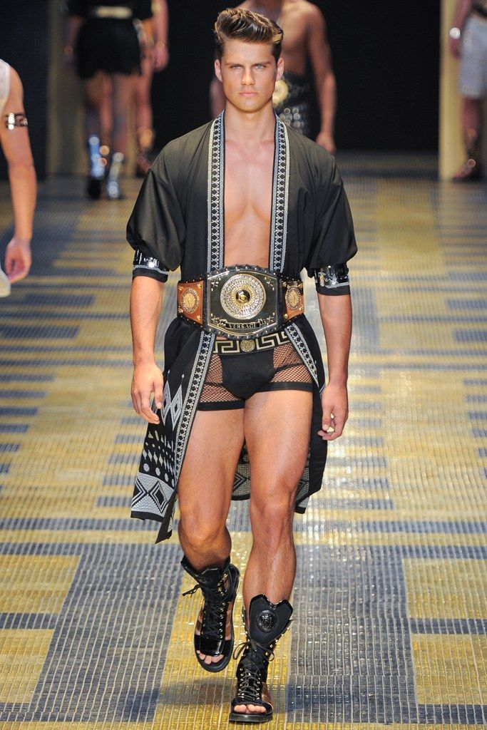 7d21d3b492ac83 Versace Spring 2013 Menswear Fashion Show in 2019   Men swimwear ...
