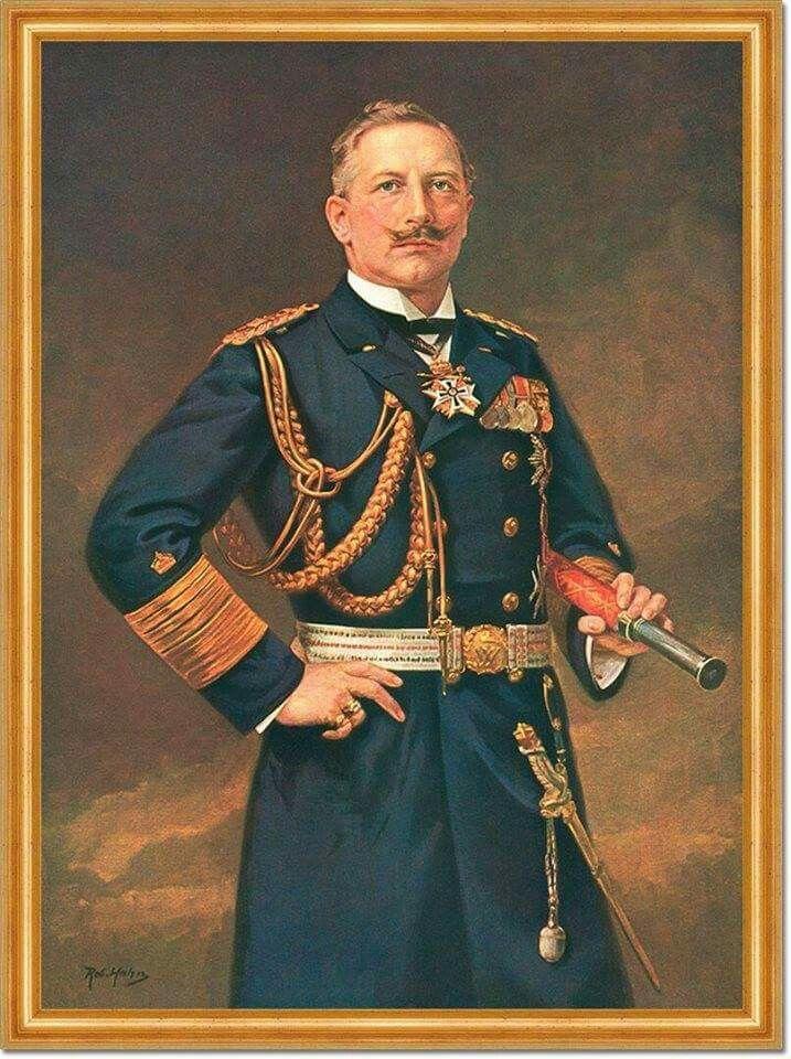 Kaiser Wilhelm Ii In Uniform Of Grand Admiral Wilhelm Ii Kaiser