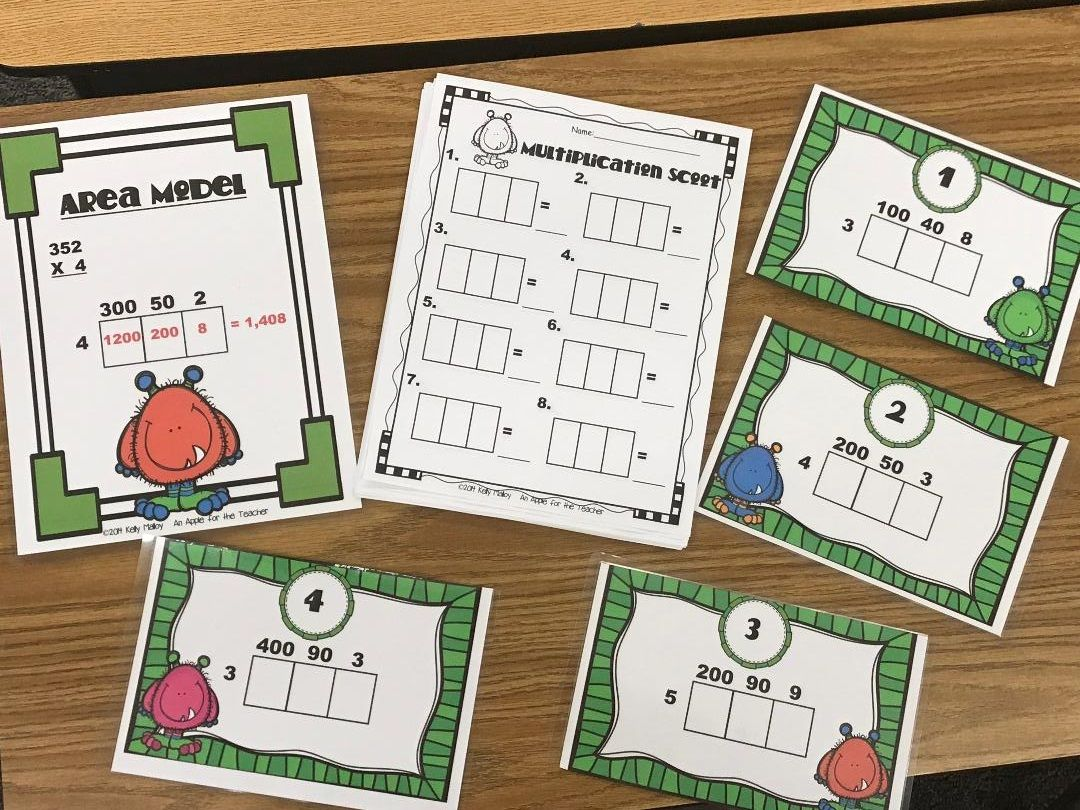 Multiplication Area Model Scoot Math Game