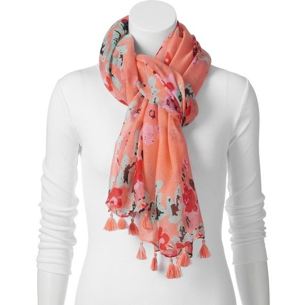 apt 9 floral oversized scarf size one size pink 15