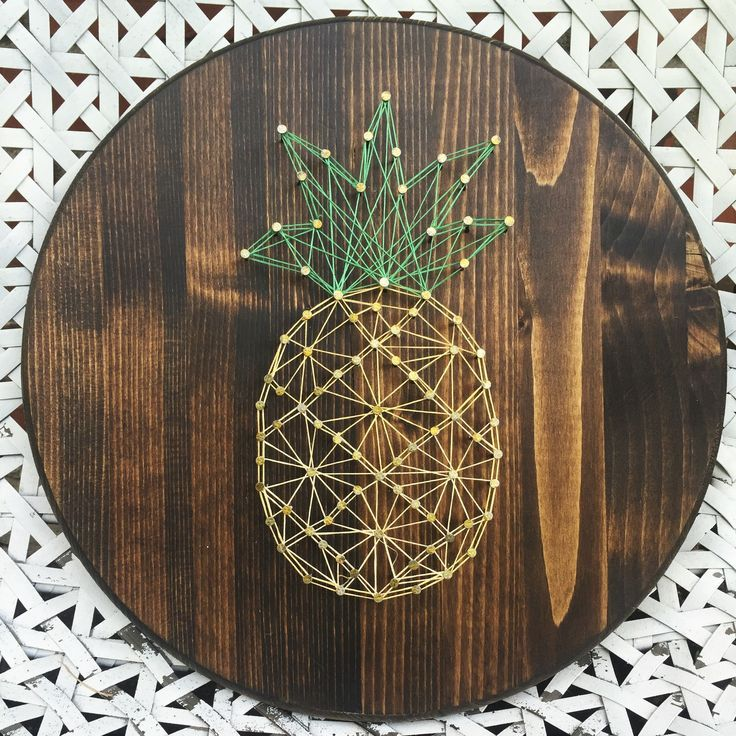 pineapple string art diy idea make things not babies. Black Bedroom Furniture Sets. Home Design Ideas