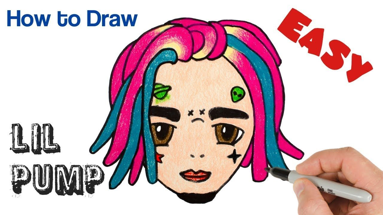 How to Draw Lil Pump Cute and Easy | Rappers drawings in 2019 | Easy