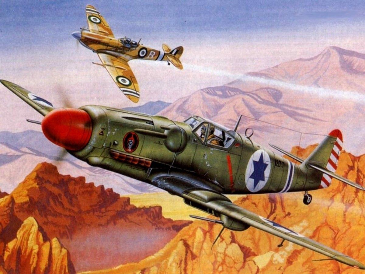 Israeli Avia S199 vs Egyptian Spitfire over Israel 1948