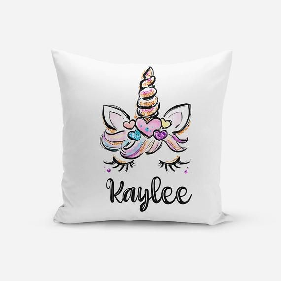 Personalized Pillow, Unicorn Pillow Cover, Unicorn Cushion, Unicorn Pillow, Personalized Unicorn Pil