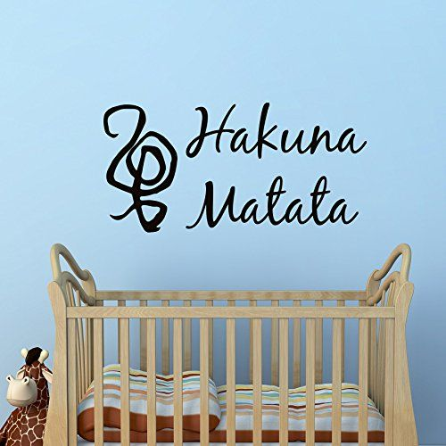 wall decal quote hakuna matata sign words vinyl lettering wall