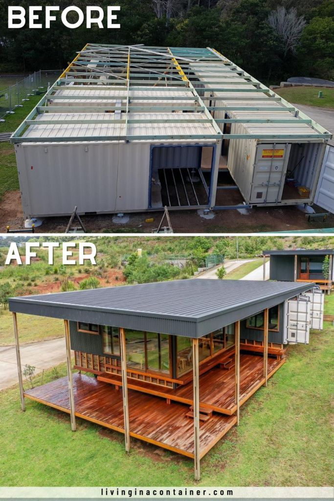 Photo of Conversion of four Salvaged Shipping Containers into a Stylish Container Home – Living in a Containe