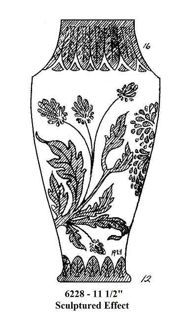 Carder Steuben Vase 62280 Steuben Etched Glass Pinterest