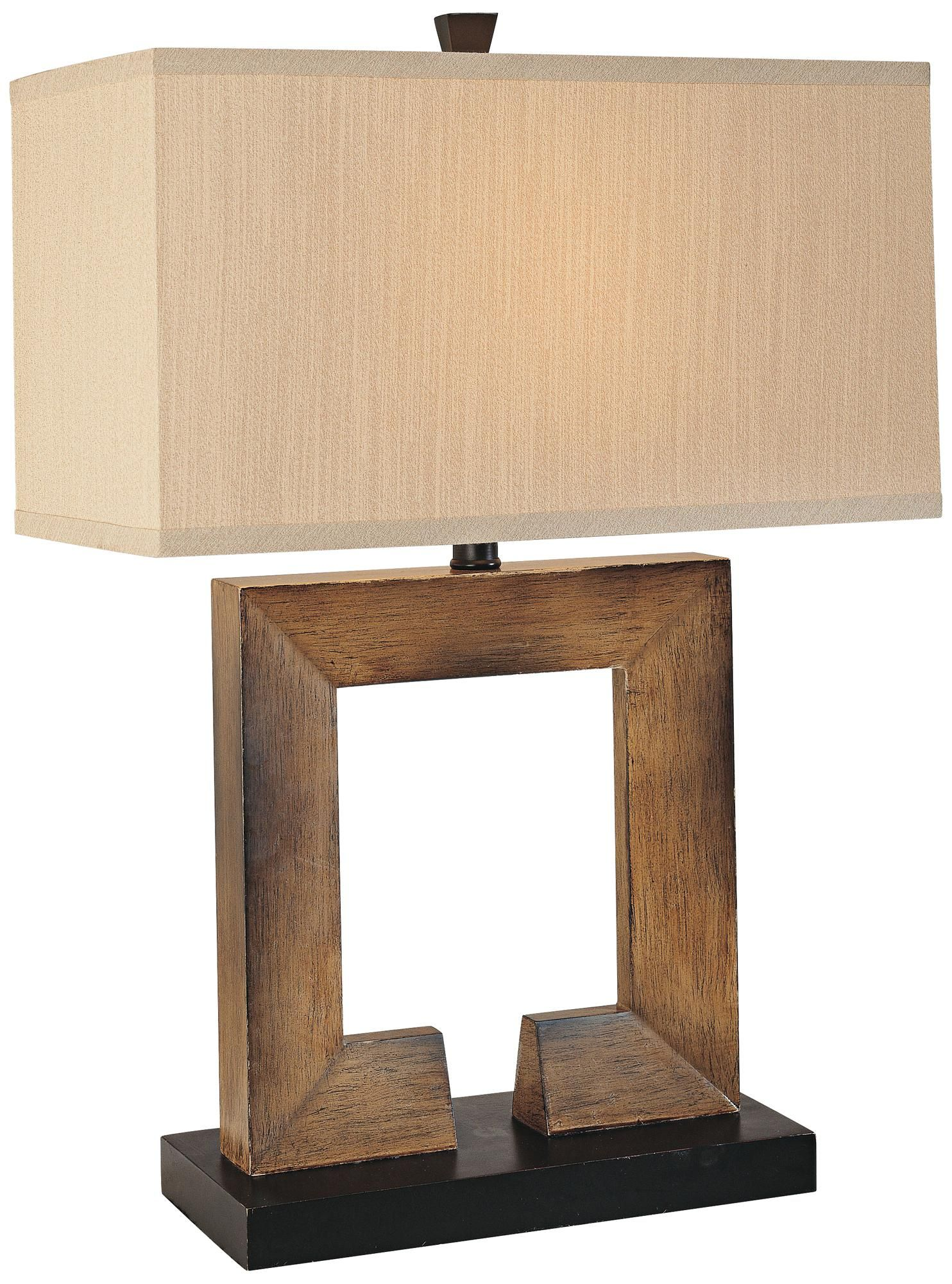 Ambience collection faux wood square table lamp 2534 high tan ambience collection faux wood square table lamp 2534 high tan shade geotapseo Choice Image