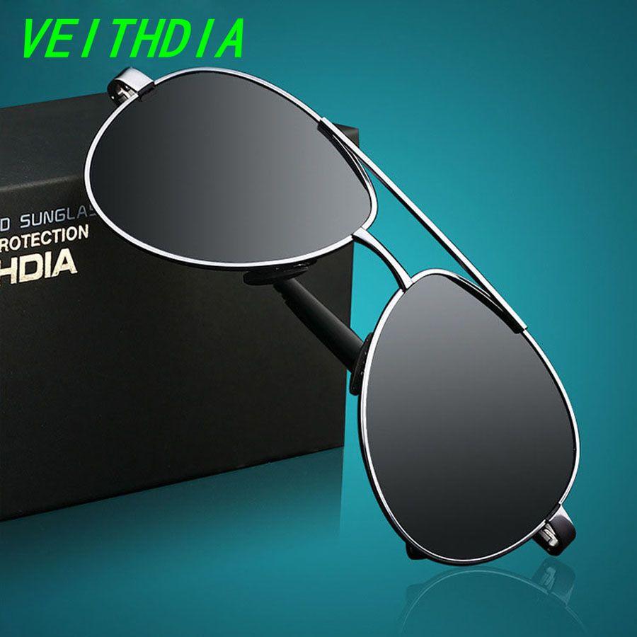 1387562c46 Find More Sunglasses Information about VEITHDIA New UV400 Pilot Yurt Sun  Glasses Men Polarized Sunglasses Brand Logo Design Driving Glasses Goggles  Oculos ...