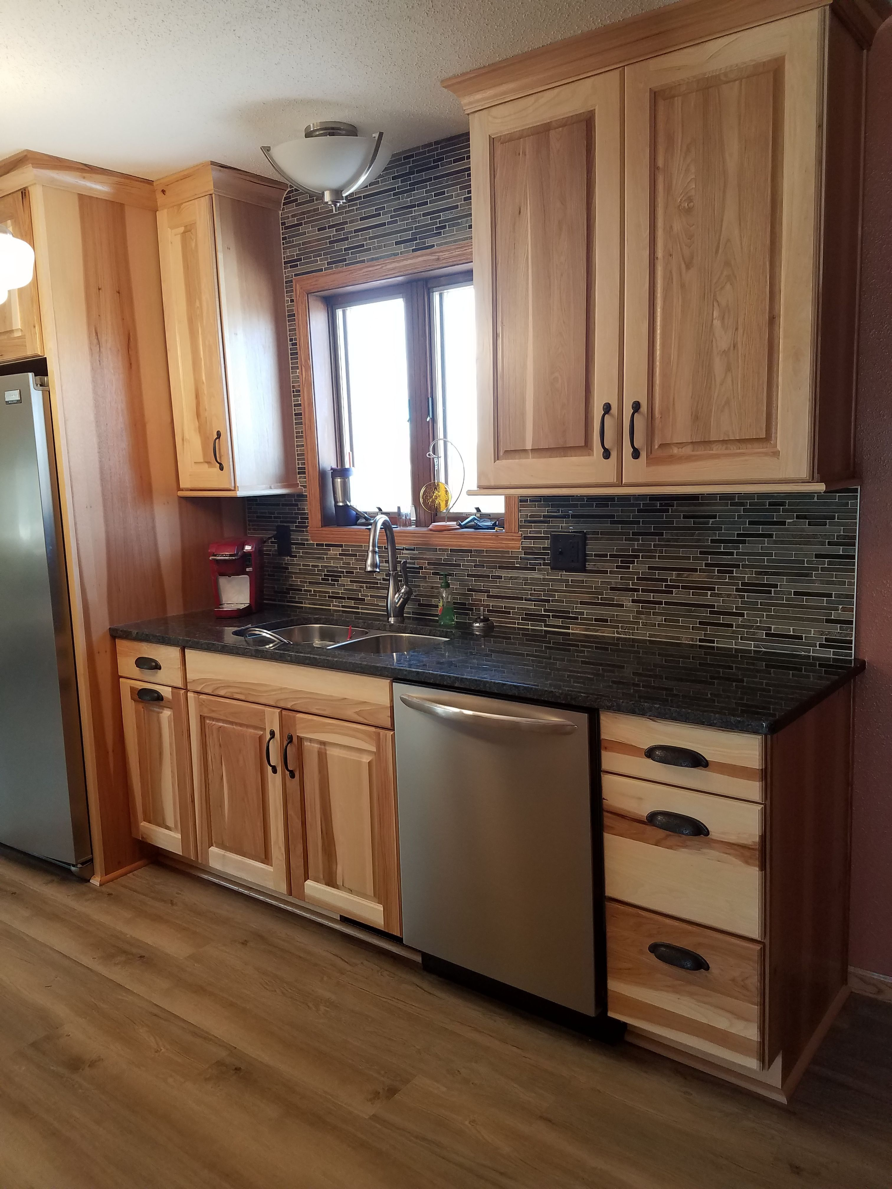 Kitchen Paint Colors with Natural Hickory Cabinets 2021 in ...