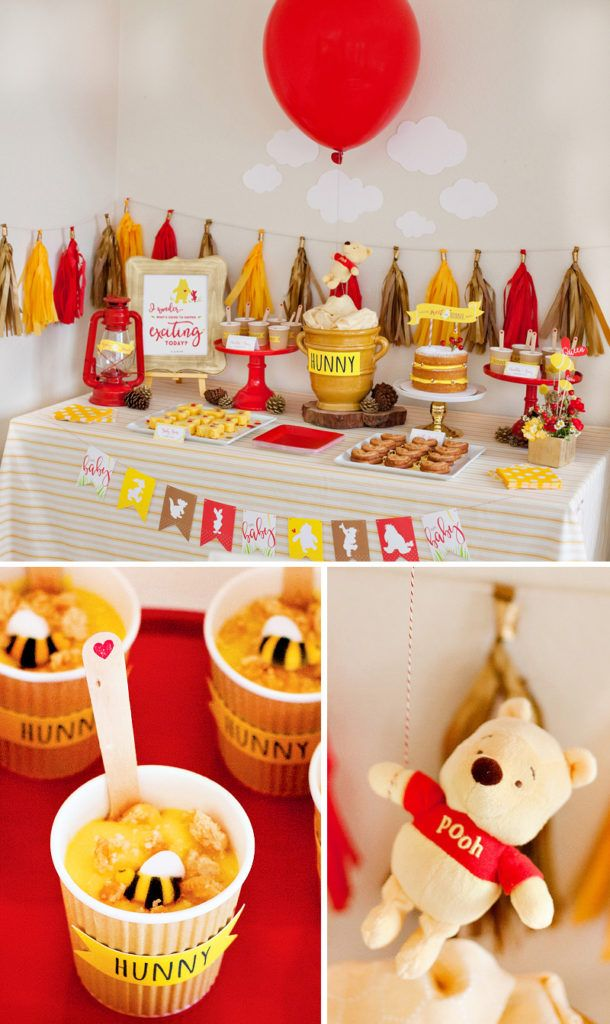 Classic Modern Winnie The Pooh Baby Shower Entertaining
