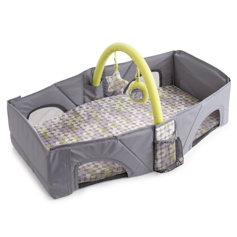 cribs travel toddler crib portable folding itm infant bed safety sleep guard baby cot