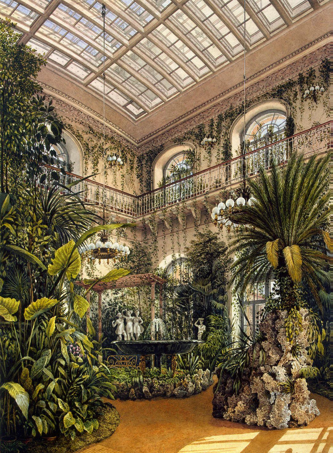 Interiors of the Winter Palace. The Small Winter Garden of Empress ...