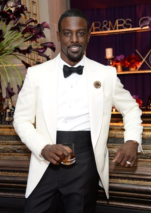Lance Gross wears a Tom Ford tuxedo to his wedding to Rebecca Jefferson.
