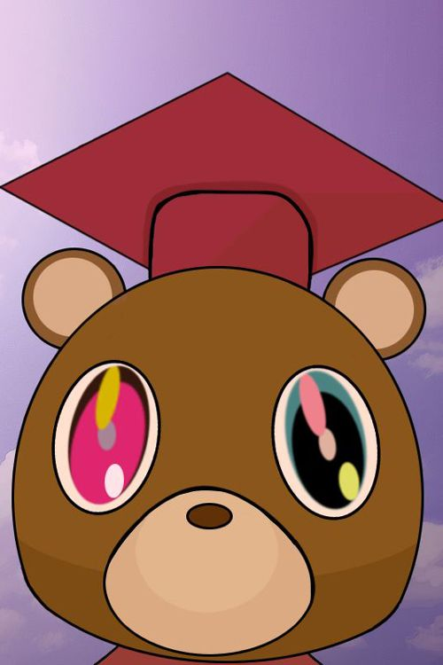 Kanye West Graduation Album 2008 Graphic Art Kanye West Graduation Bear Kanye West Graduation Cap Kanye West Graduation