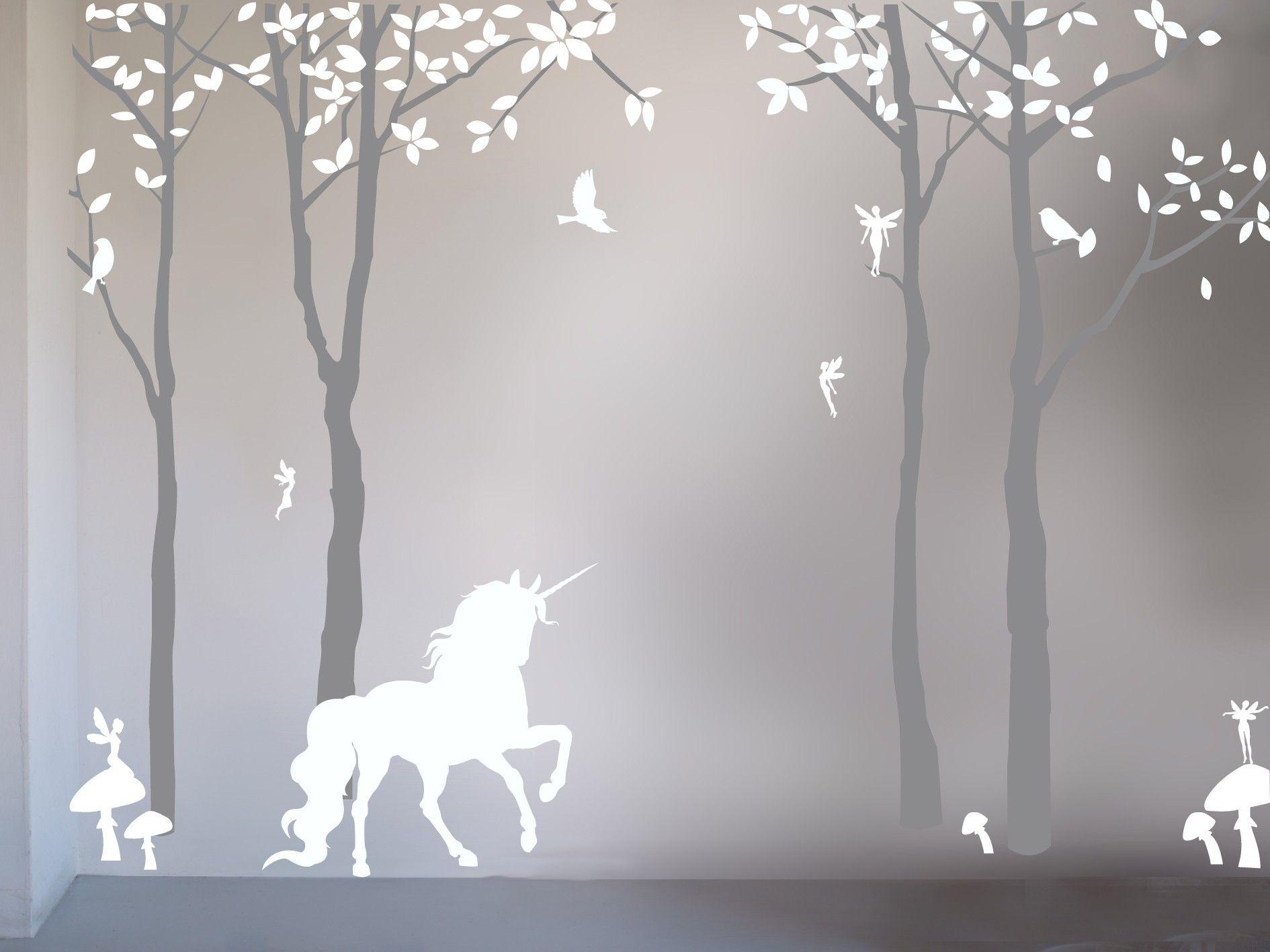 Magical Unicorn Wall Sticker Unicorn Bedroom Kids