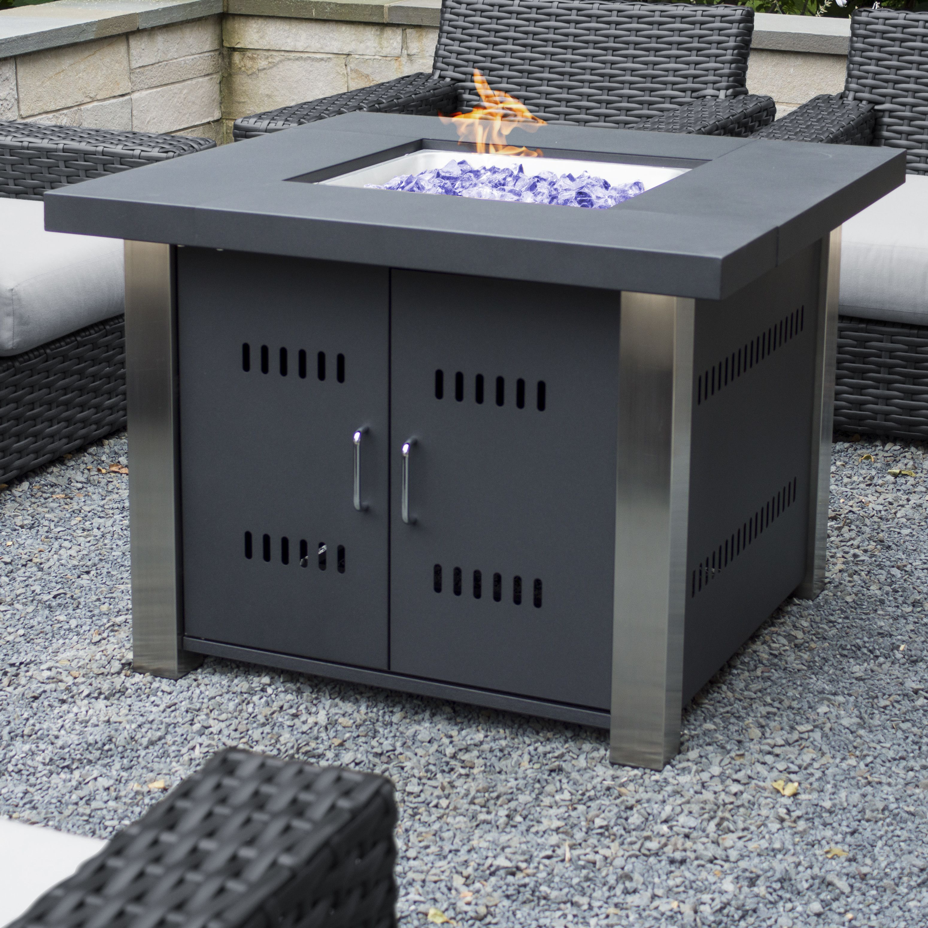 Pleasant Hearth Montreal Propane Gas Fire Pit Table | Fire ...