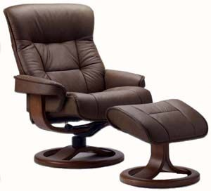 Fjords Bergen Ergonomic Recliner Chair And Ottoman Scandinavian Lounger