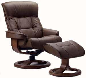 Elegant Fjords Bergen Ergonomic Recliner Chair And Ottoman Scandinavian Lounger