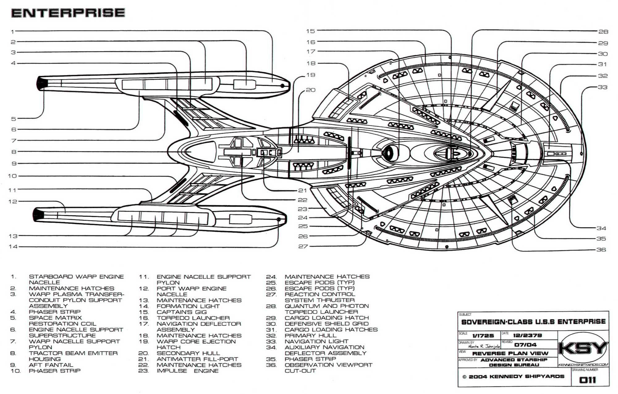 sovereign class starship schematics