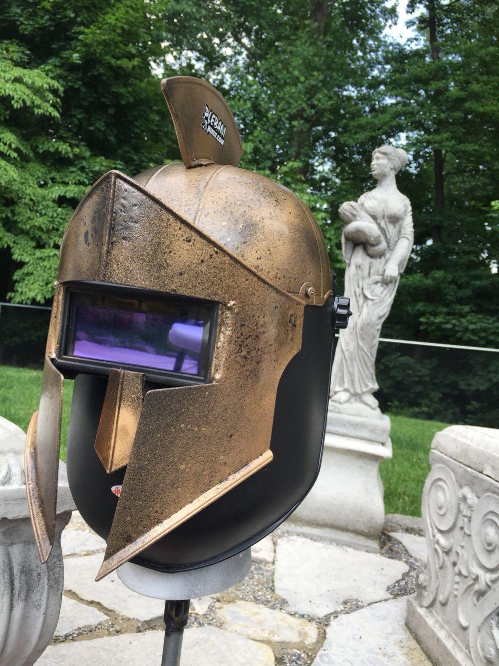 Spartan welding hood   Custom welding helmets, Welding ...