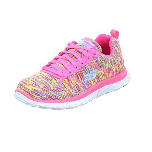 6c626cd695b3 Cheap Skechers Womens Flex Appeal Training SneakerWhirl Wind Pink MultiUS 8  M https