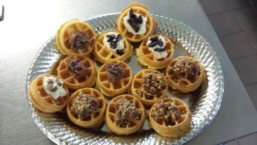 Mini waffle donuts! Via-L.A.'s Coffee Cafe'-three rivers, Michigan