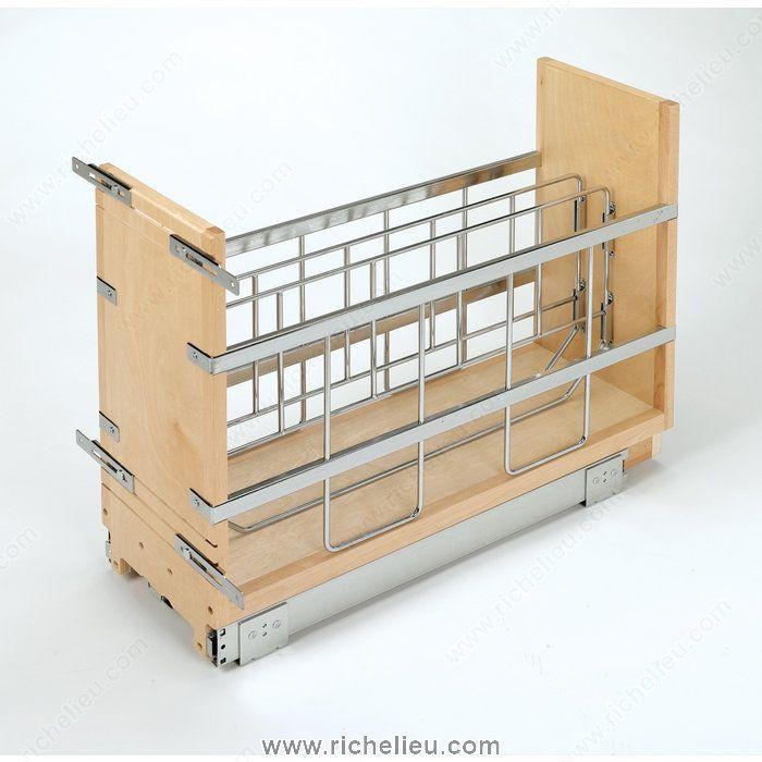 Kitchen Storage // Pull Out Base Cabinet Organizer   Richelieu Hardware