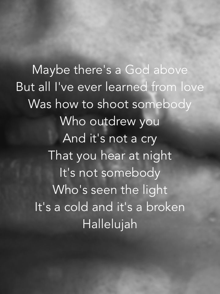 Hallelujah by Leonard Cohen. Love that song. | Soundtrack of My ...