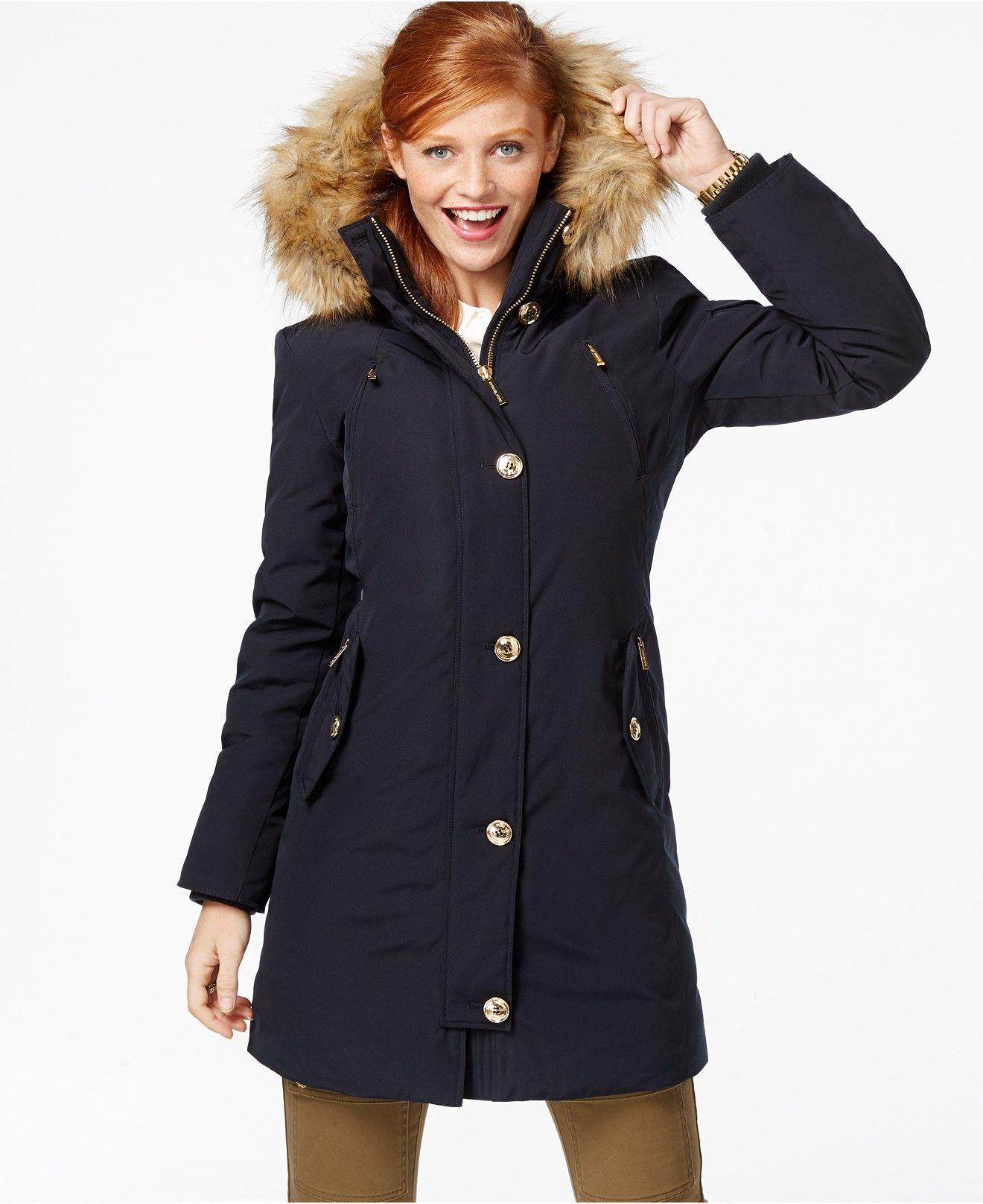 dd7af6b3519f8a MICHAEL Michael Kors Faux-Fur-Hood Down Parka - Coats - Women - Macy s