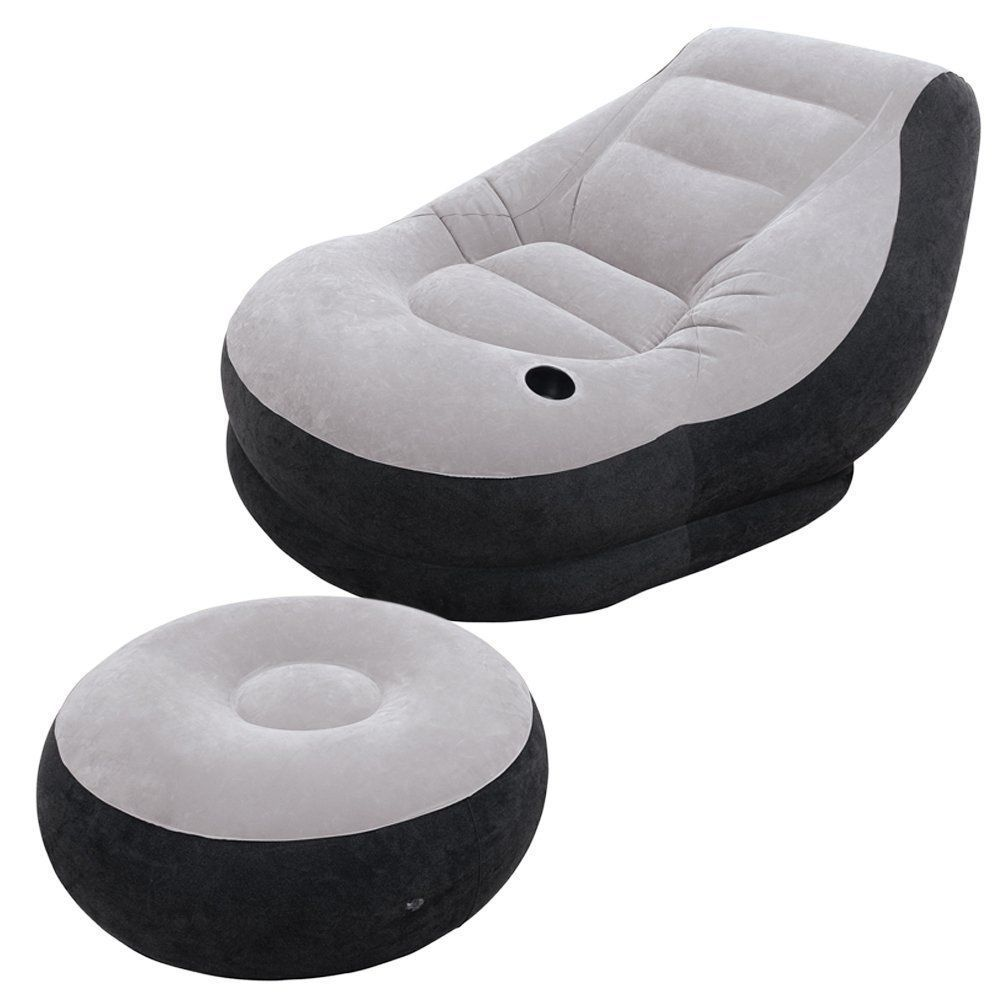 Intex Inflatable Ultra Lounge With Ottoman Furniture New