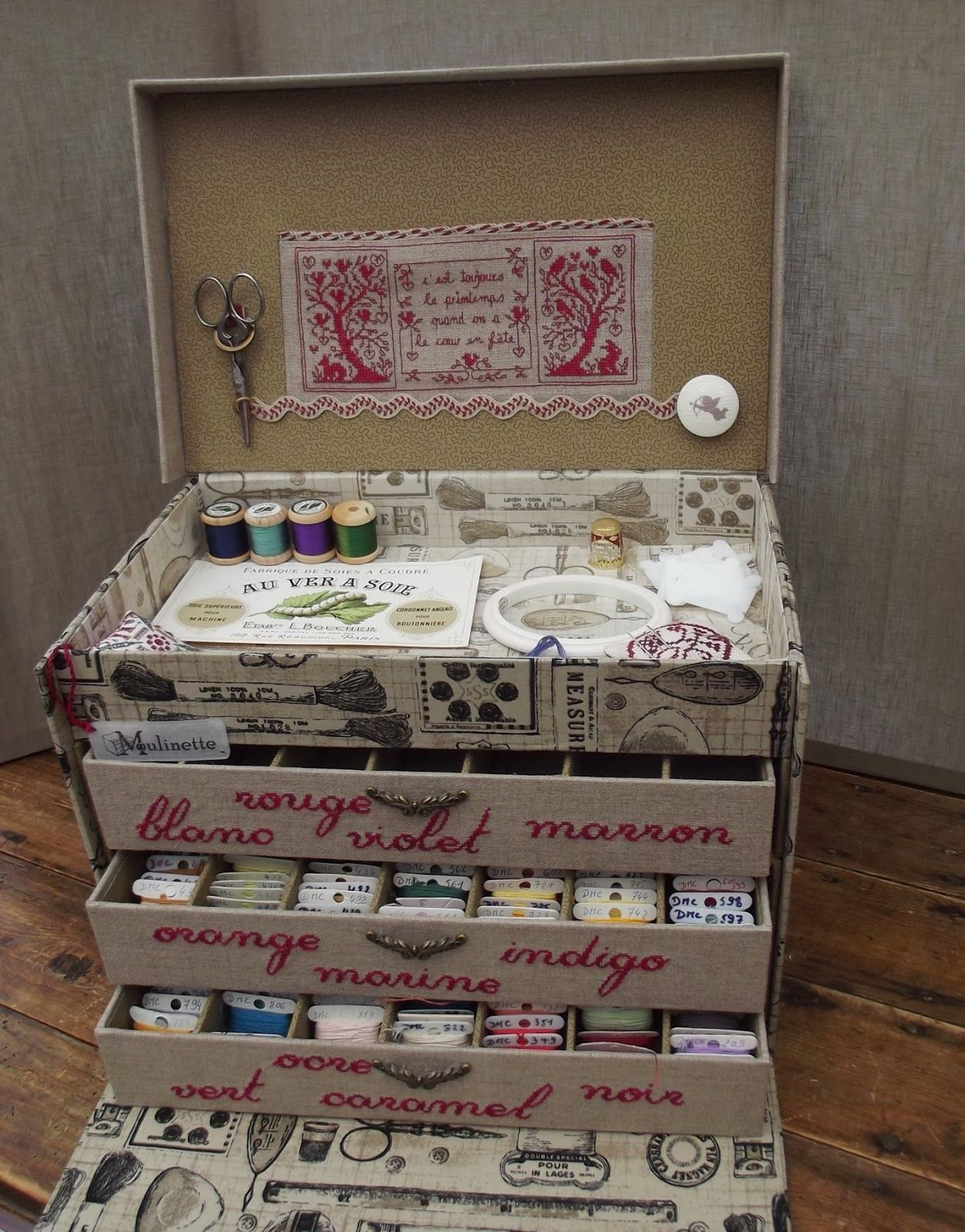 Craft hat boxes - Sewing Box Hat Boxes The Box Craft Projects Hobbies Stitching Romane Embroidery Thread Blogspot Fr
