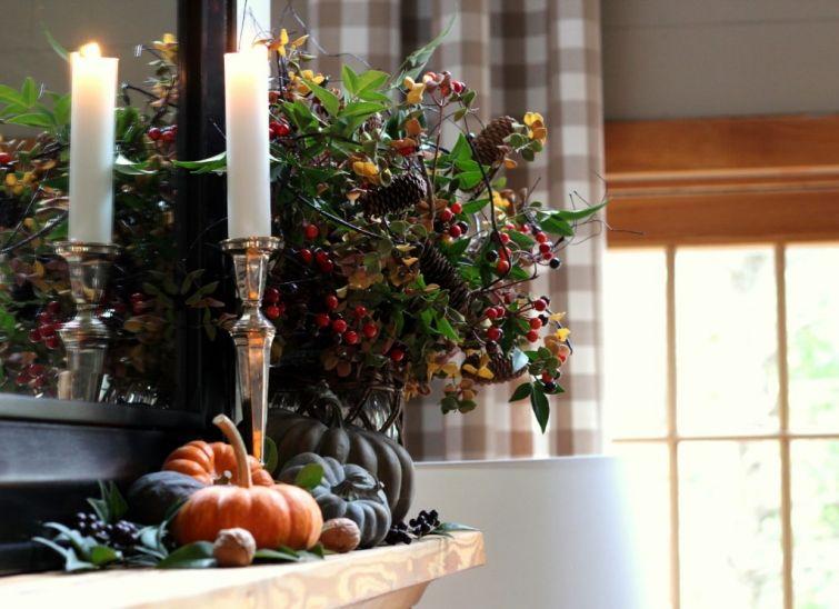 thanksgiving-arrangement-for-mantel | Table decorations ...
