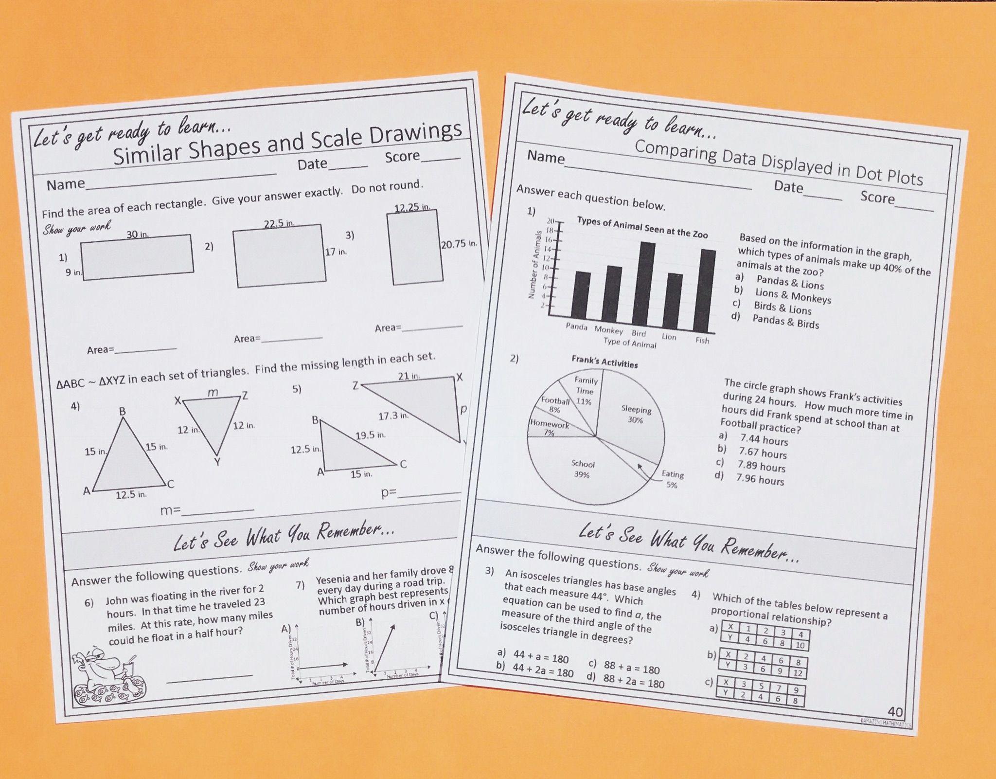 7th Grade Math Warm Ups Bell Ringers Year Long Topic Based W Spiral Review 7th Grade Math Math Teks Math [ 1601 x 2048 Pixel ]