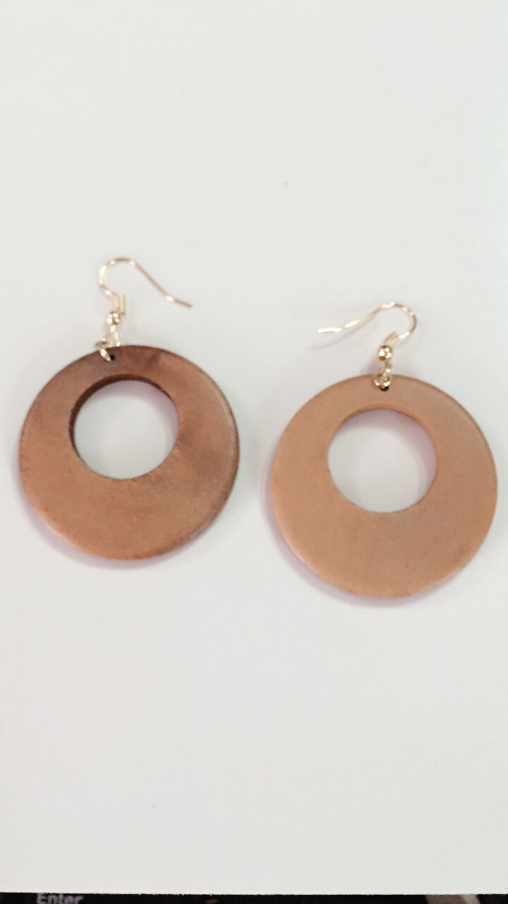 Fashion Good Wood Earrings Jewelry Round Personality Hollow Quality New Design Affiliate