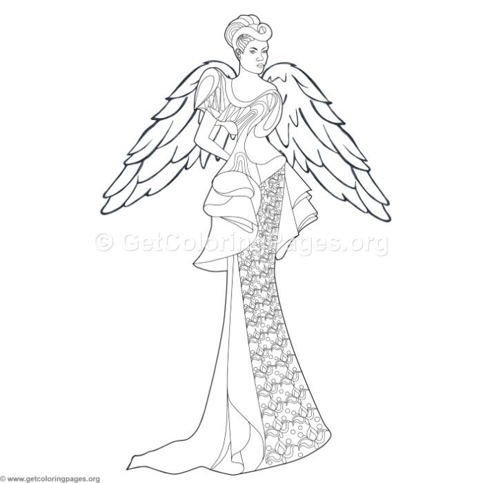 Free Download 6 Fashion Angel Coloring Pages Coloring Coloringbook