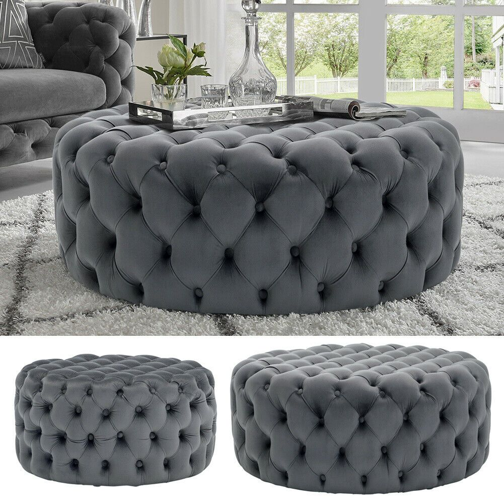 Large Chesterfield Footstool Large Ottoman Coffee Table Footstool Living Rooms Chesterfield Living Room [ 1001 x 1001 Pixel ]