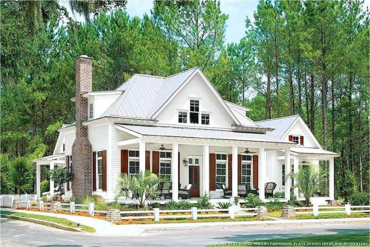 40 Best Simple Modern Farmhouse Plans Design Ideas And Renovation Porch House Plans Modern Farmhouse Plans Coastal House Plans