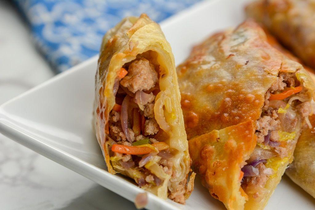 Airfryer or ninja foodi egg rolls recipe food recipes