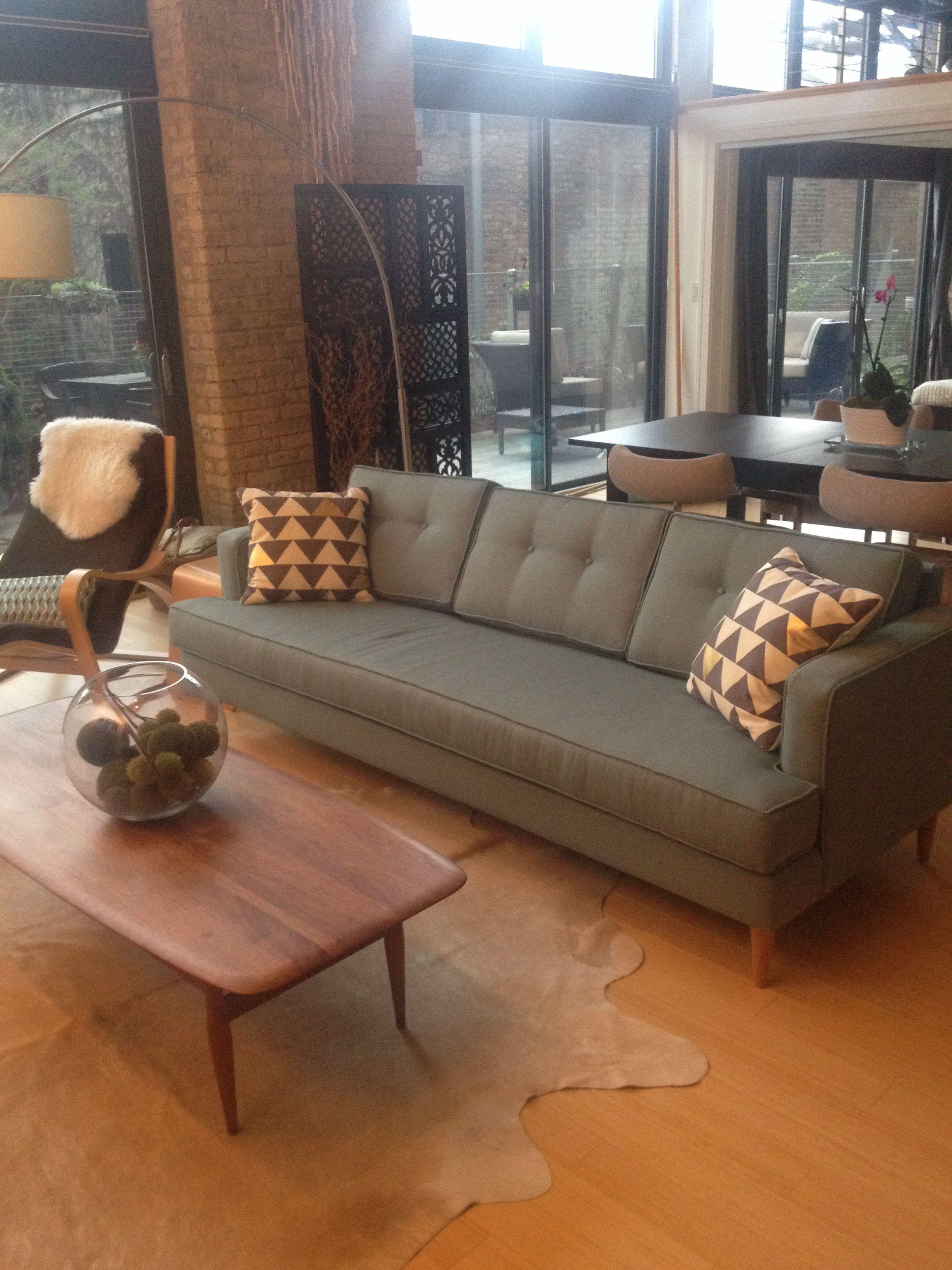 Mid Century Sofa From Funkysofa.com. Love The Aqua Color!