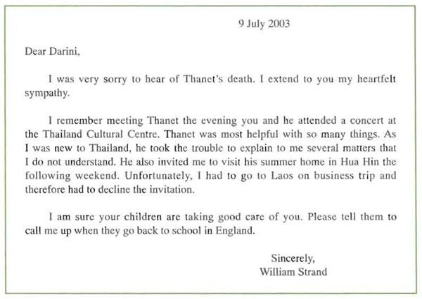 Business Condolence Letter - A letter of condolence, or condolence - example of sorry letter