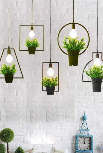 Garden Decoration Lights Ceilings 63 Ideas Hanging Plants Indoor Hanging Plants Plant Decor