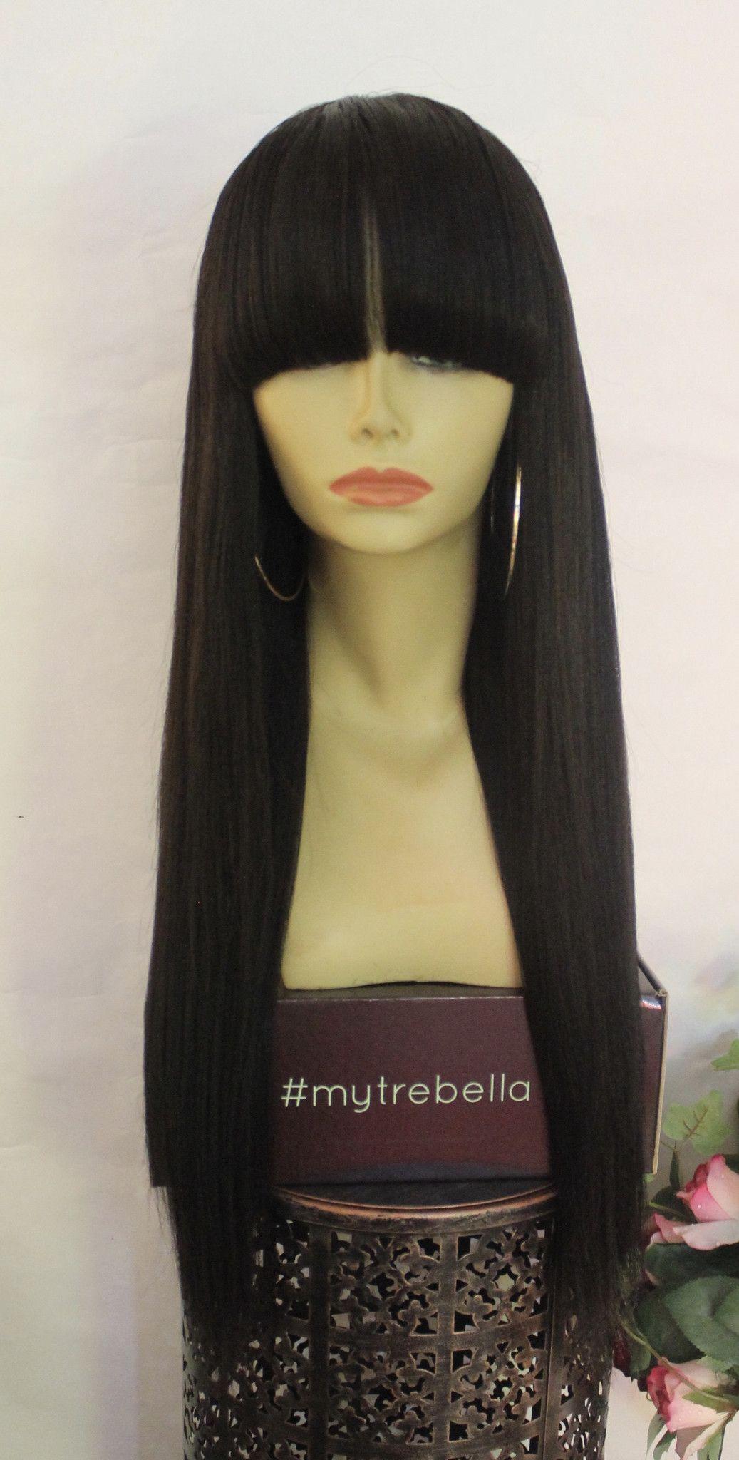 Trebella wigs smooth straight light yaki unit in hair u beauty