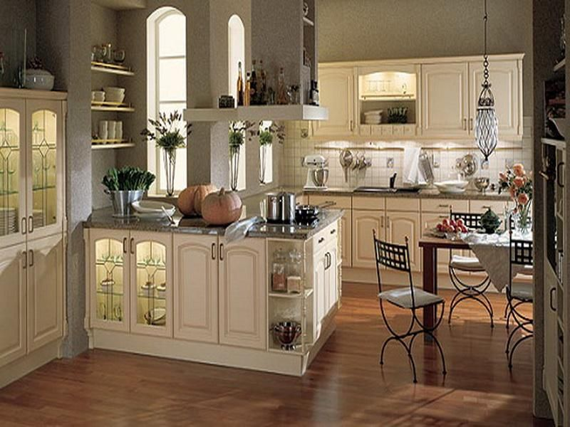 Country French Kitchen Cabinets Like Shape On Cabinet Doors