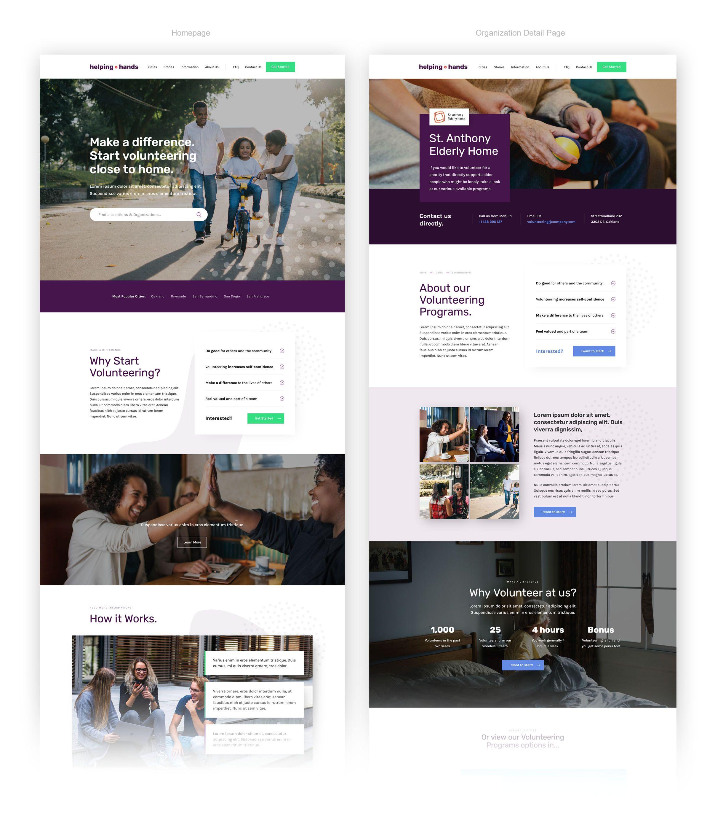 Helpinghands Nonprofit Html5 Responsive Website Template Responsive Website Template Website Template Web Design Tools