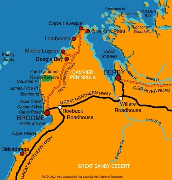 dampier peninsula Dampier Peninsula Map diana Pinterest