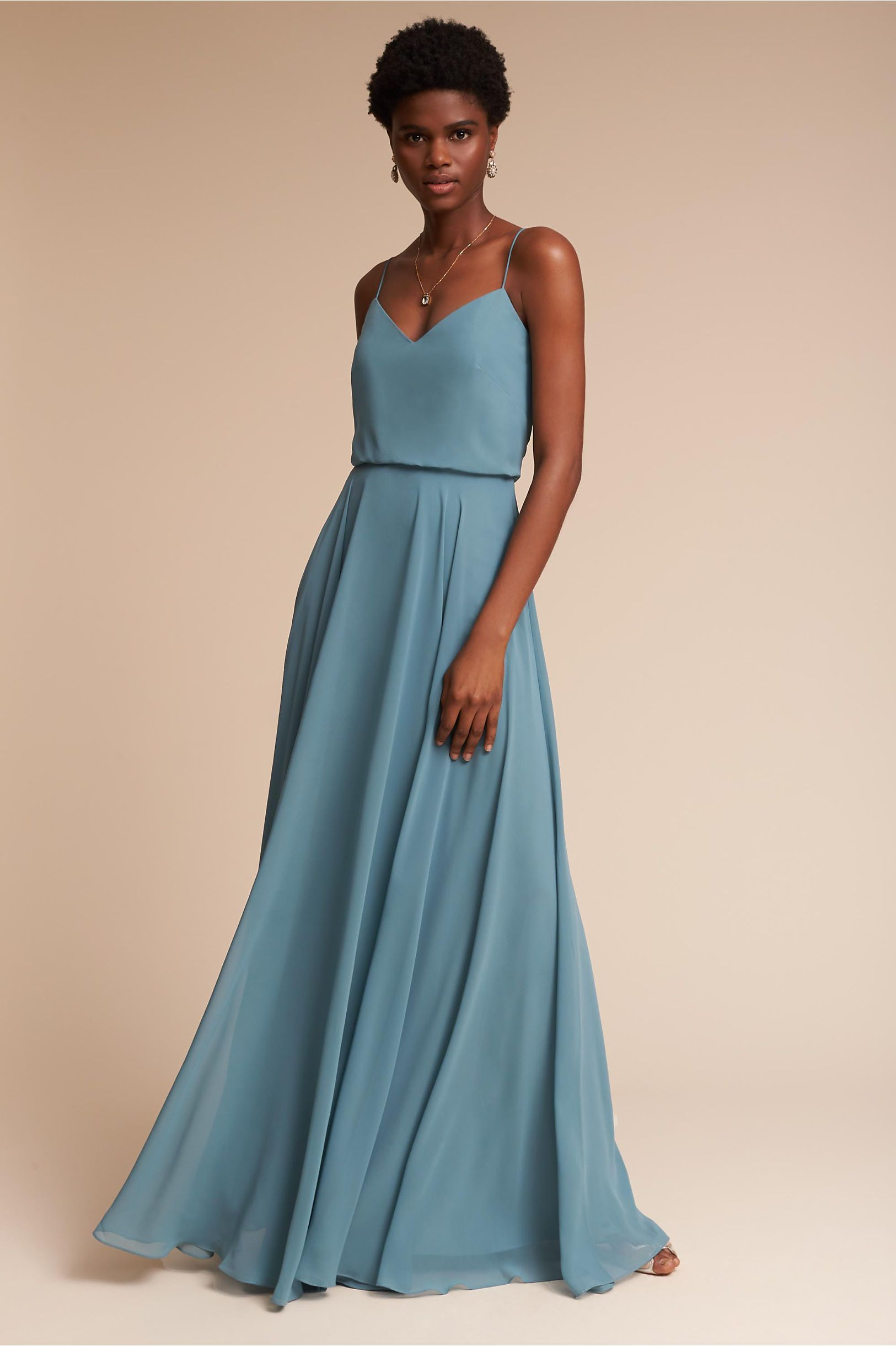 BHLDN\'s Jenny Yoo Inesse Dress in Turkish Blue | Bridesmaid Dresses ...